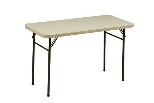 MECO UT16.3U541 Table with Folding Legs, 4-Feet, Mocha