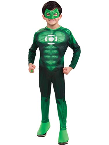 Jordan 6 Halloween (Green Lantern Child's Deluxe Hal Jordan Costume with Muscle Chest - One Color -)