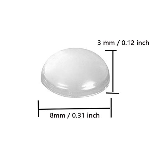 BTMB 500 Pcs Self-Adhesive Clear Rubber Feet Bumpers Transparent Buffer Pads Cabinet Door Noise Dampening Pads by BTMB (Image #3)