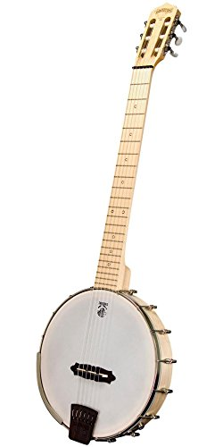 Deering Goodtime Solana 6-String Banjo (Violin Inlay Music Box)