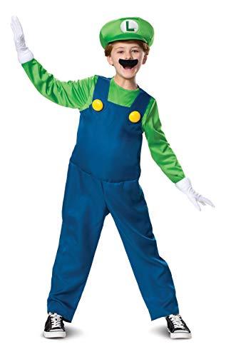 Disguise Luigi Deluxe Child Boy Costume Green -
