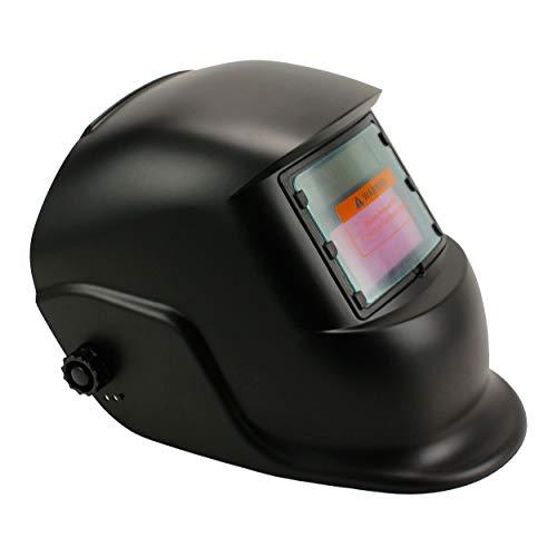 Geelife Solar Powered Welding Helmet Auto Darkening Hood with Adjustable Shade Range 4/9-13 for Mig Tig Arc Welder Mask (Black)