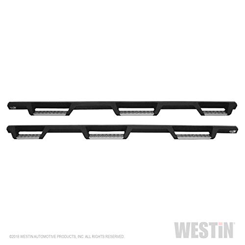 (Westin 56-5343352 Textured Black Nerf Step Bar (HDX Stainless Drop Wheel for Ram 2500/3500 Crew Cab 2010-2018 (8ft Bed) Excl Dually))