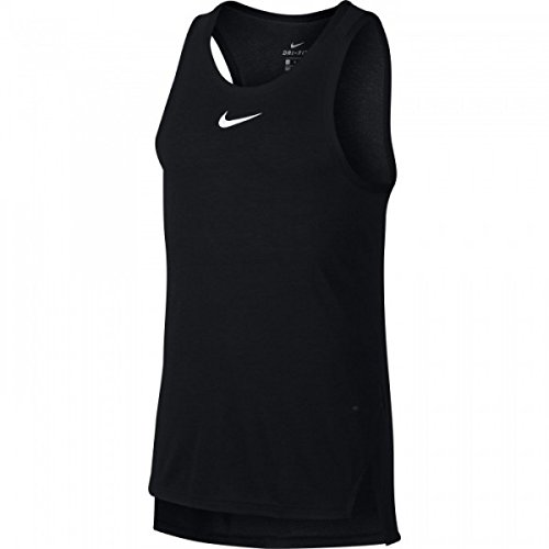 Nike Breathe Elite Top Sleeveless axilas Camiseta blanco/negro