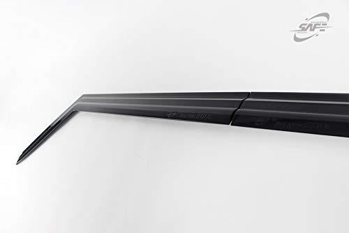 Safe Smoke Window Visor Sun Rain Vent Guard 4 Pcs Set for KIA Soul 2014~2019 Out Channel Visor