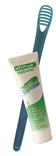 Tongue Scraper/Cleaner and Fresh Breath Gel - VeriFresh - All Natural Fresh Breath Kit - Bad Breath Treatment/Solution