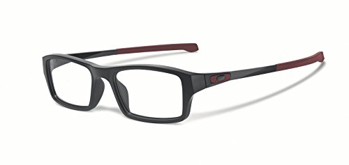 Oakley Chamfer OX8039-0349 Satin Pavement Rectangle Eyeglasses - Men For Oakley Reading Glasses