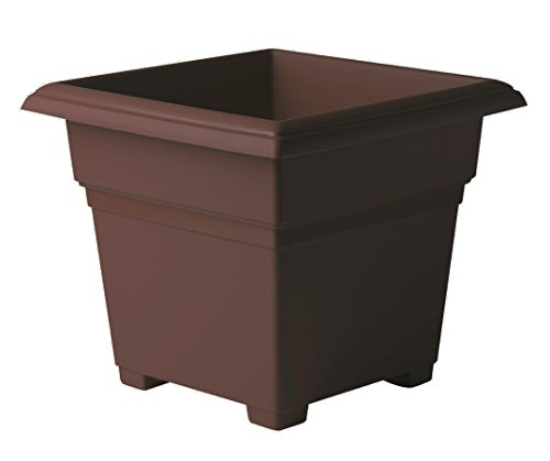 Countryside Square Tub Planter, Brown 18-Inch