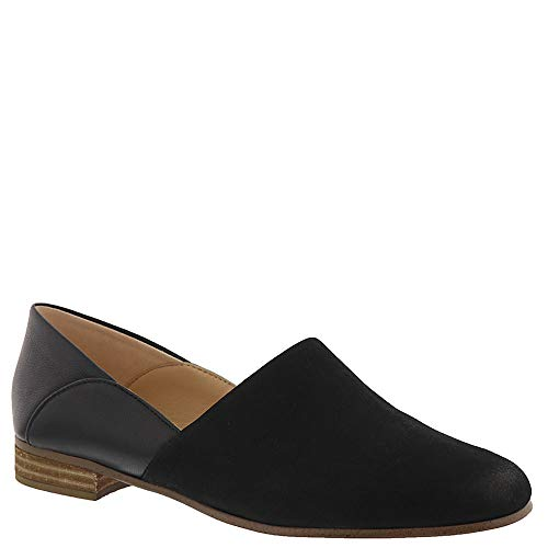 CLARKS Pure Tone Womens Loafer Flat Black Combination 7 ()