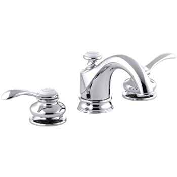 KOHLER KCP Fairfax Single Control Lavatory Faucet Polished - Kohler fairfax single hole bathroom faucet
