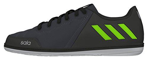 adidas Jungen Messi 16.4 Street J Fußballschuhe Grau (Dark Grey/Solar Green/Core Black)