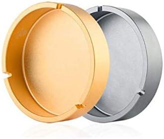 葉巻灰皿, 、色:グレー:自宅、オフィスでの使用、(灰色)を購入する歓迎のためのオフィスクリエイティブ人格アルミ合金のファッションスモークオフィスホームに適した大規模なリビングルームの装飾のギフトに最適 (Color : Gray)