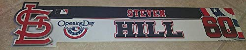 (2012 OPENING DAY STEVEN HILL #60 ST. LOUIS CARDINALS LOCKER ROOM NAME PLATE)