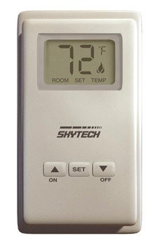 Skytech TS/R-2 Wireless Wall Mounted Thermostat Fireplace Remote Control by SkyTech