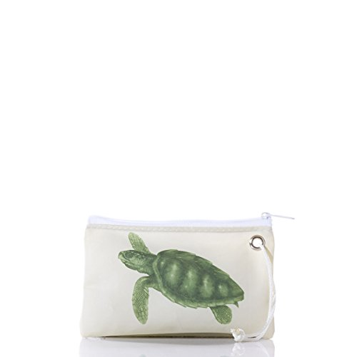 Sea Bags Recycled Sail Cloth Sea Turtle Wristlet made in Maine