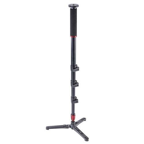 3Pod Orbit 4-Section Aluminum Handheld Monopod Stick for DSLR Photo & Video, Sports Cameras, Fluid Base Tripod Legs with Bag.65