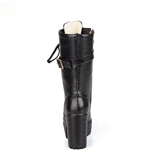 Unknown 1to9mns02558 - Sandales Compensées Pour Femmes, Noir (noir), 35 Eu