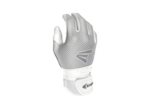 (Easton Hyperlite Fast Picth Batting Glove, Women's, Medium, WHITE/WHITE)