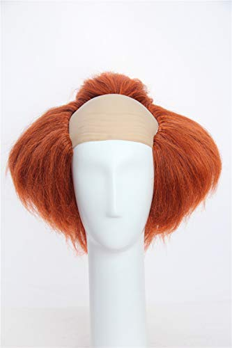 Weave Wigs -Halloween Deep Orange Clown Wig]()
