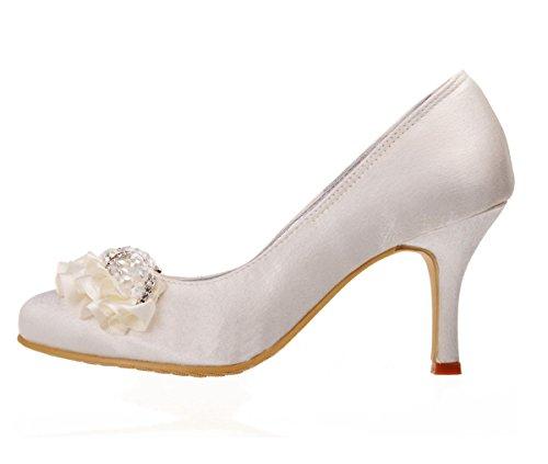 Kevin Fashion Zapatos de Boda Fashion Mujer, Color Beige, Talla 43