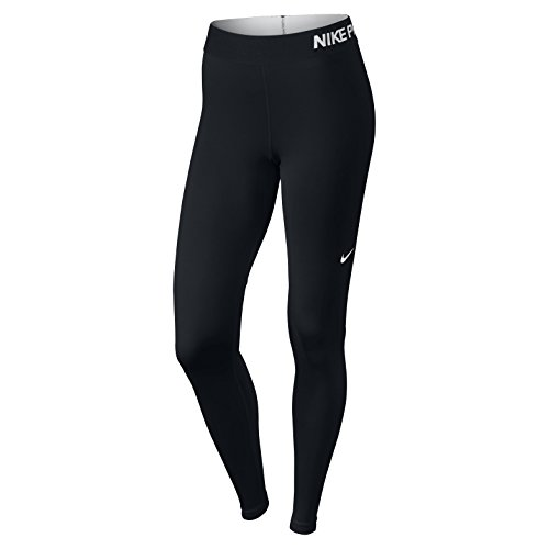 NIKE Women's Pro Cool Tights, Black/Black/White, Medium