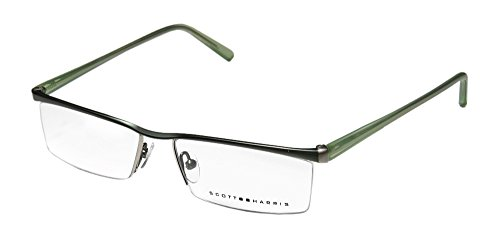 Scott Harris 201 Mens Designer Half-rim Eyeglasses/Eyewear (53-15-140, - Scott Eyeglasses