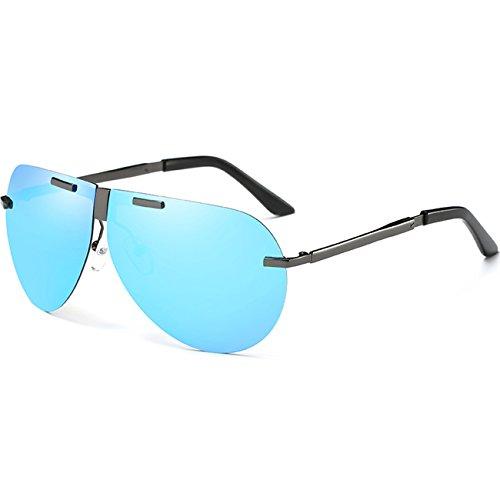 JULI gafas 400 sol conducción Marco Azul de polarizado de Hombre Aviador Protección Gris UV Lente 4rq45Zp