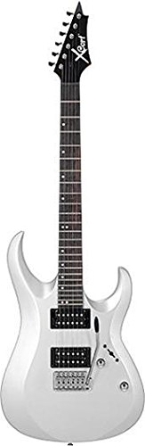 Cort X1 de la guitarra eléctrica blanca