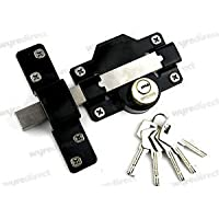 Gatemate 70mm Long Throw Gate Lock Double Locking 5 Keys Stainless Steel Gatemate by Wyre Direct