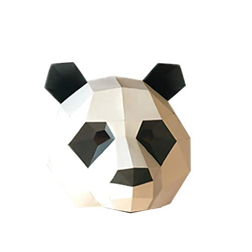 Qupida 3D Papercraft Masquerade Animal Cosplay Paper Mask Cardboard House DIY Crafts for Festival Party ()