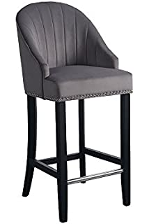 Excellent Atlantic Shopping Morgan Kitchen Stool Grey Fabric Amazon Uwap Interior Chair Design Uwaporg