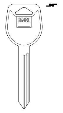 Hy-Ko Key Blank Mitsubishi Ez# Mit6 Nkl Platd Brs 10 Pc / (Brs Key)