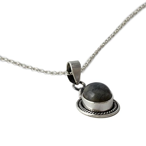 NOVICA .925 Sterling Silver and Labradorite Pendant Necklace, 18.5