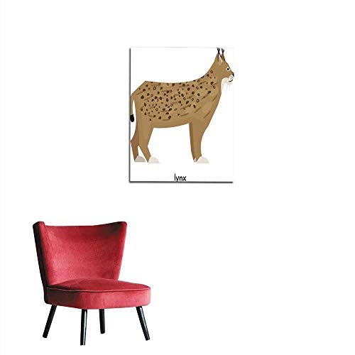 longbuyer Wall Sticker Decals Brown Lynx Mural 32