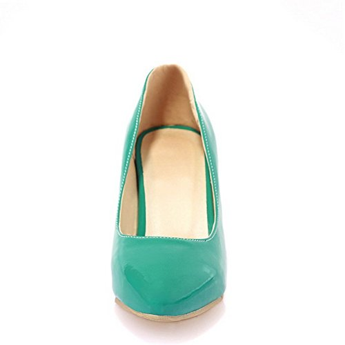 Closed 38 Women's Shoes Kitten Pointed Pumps Green Toe WeiPoot Heels SOZwwq