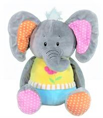 Plush Animal Cuddle Banks With Animal Sounds  Elephant