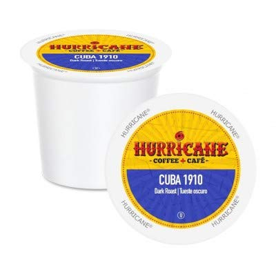 Hurricane Cuba 1910 Coffee, Single Serve Cups for Keurig K Cup Brewers, 24 Count