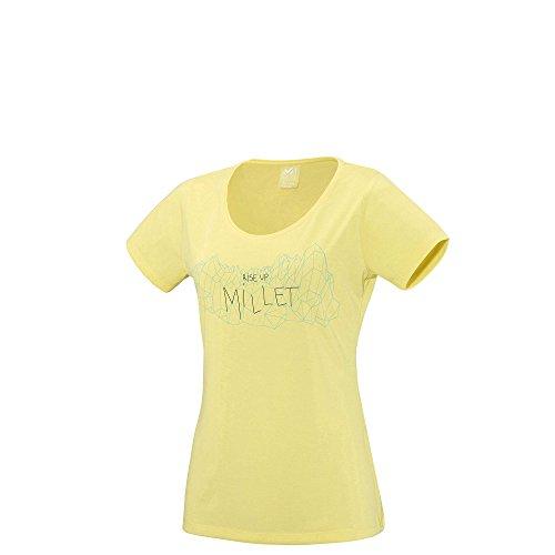 Camiseta Millet LD Borah Peak Lime Light amarillo