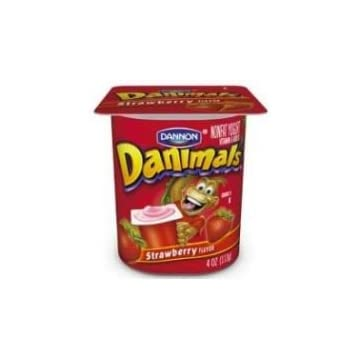mini Danimals Strawberry Nonfat Yogurt