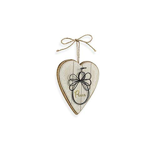 Angel Ornament Peace - Kelli's Angel on Wood Heart Ornament~Peace~Inspirational Gift