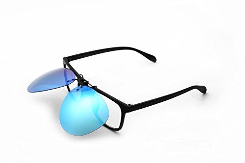 polarizadas lentes Flip negro gafas Up sol Running clip azul sol en hombre UV400 de gris gafas de Deporte 7X40x