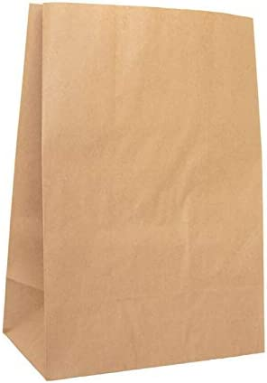 kgpack 50x Bolsas de Papel Kraft DIY 26 x 14 x 40 cm | Bolsas de Papel Kraft para niños | Calendario de adviento | Bolsa de Regalo de Fondo Plano | Bolsa de Papel de Alimentos