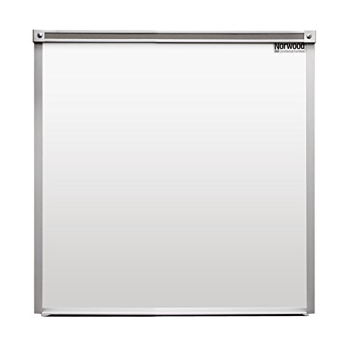 Norwood Commercial Furniture 6404 4' x 4' Heavy-Duty Magnetic Dy Erase Board, White by Norwood Commercial Furniture (Image #1)