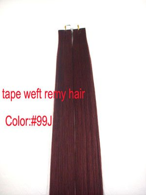 Amazon 10 pieces 20 remy tape hair extensions 99j red wine 10 pieces 20quot remy tape hair extensions 99j red wine pmusecretfo Choice Image