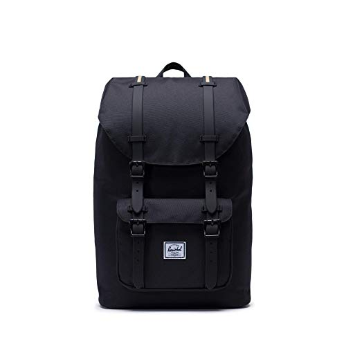 Herschel Little America Laptop Backpack, Black/Gold
