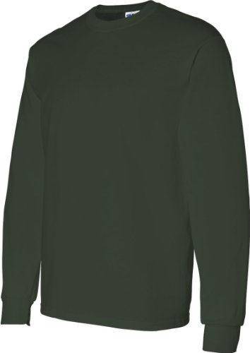 5400l Gildan Missy algodón grueso Fit manga larga camiseta verde (Forest green)