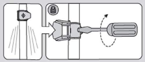 Illustration du système de verrouillage à levier