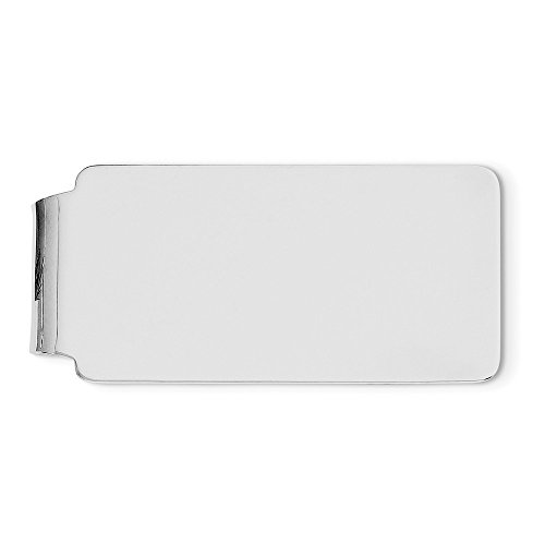 Silver clip plated Rhodium Sterling Sterling Rhodium Silver Money clip plated Sterling Money qEC1pnaPCw