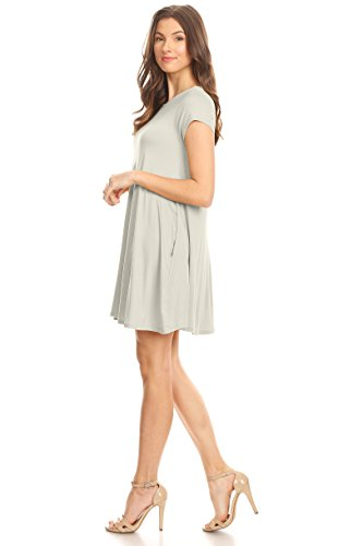 93f612c5eed Casual T Shirt Dress for Women Flowy Tunic Dress with Pockets Reg and Plus  Size -