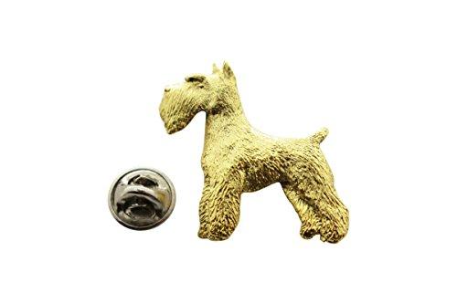 (Sarah's Treats & Treasures Schnauzer Pin ~ 24K Gold ~ Lapel Pin)